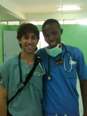 Herbie Duber with Haitian surgical resident Dr. Jimmy Joseph