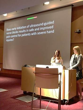 Dr. Caitlin Schrepel and Dr. Alexandra Pulst-Korenberg present research